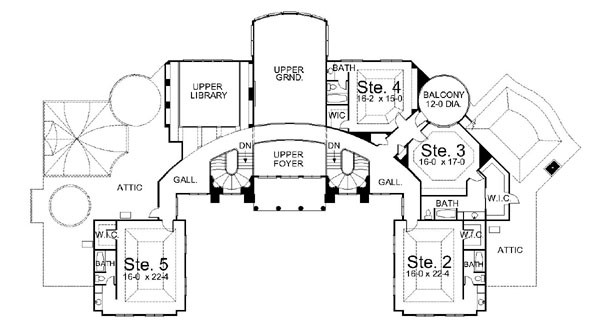 A look at mansion floorplans 3 homes of the rich for Mansion floor plans with ballroom