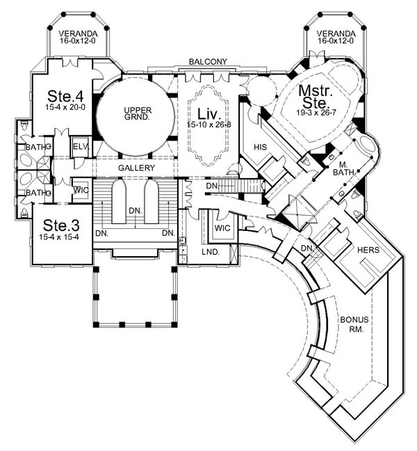 A look at mansion floorplans 3 homes of the rich for Floor plans for a mansion