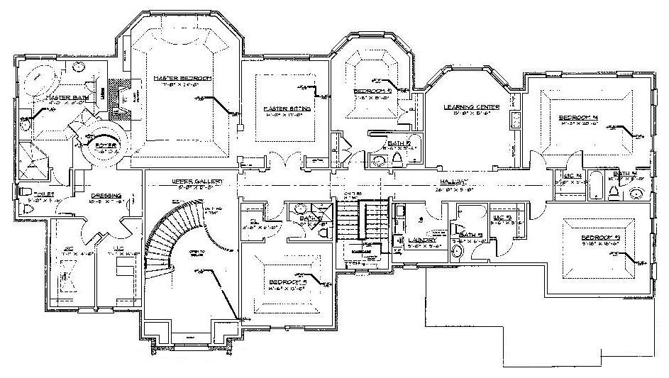 Floorplans homes of the rich page 2 Large estate home plans
