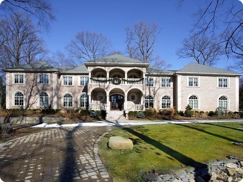 Alpine center hall brick colonial homes of the rich for Alpine nj celebrity homes